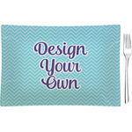 Design Your Own Rectangular Glass Appetizer / Dessert Plate - Single or Set (Personalized)
