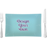Design Your Own Rectangular Glass Lunch / Dinner Plate - Single or Set
