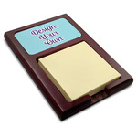 Design Your Own Red Mahogany Sticky Note Holder (Personalized)