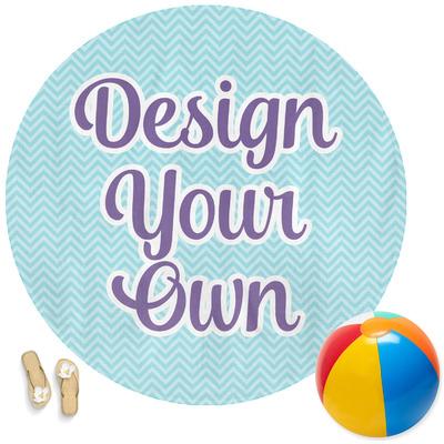 Design Your Own Personalized Round Beach Towel