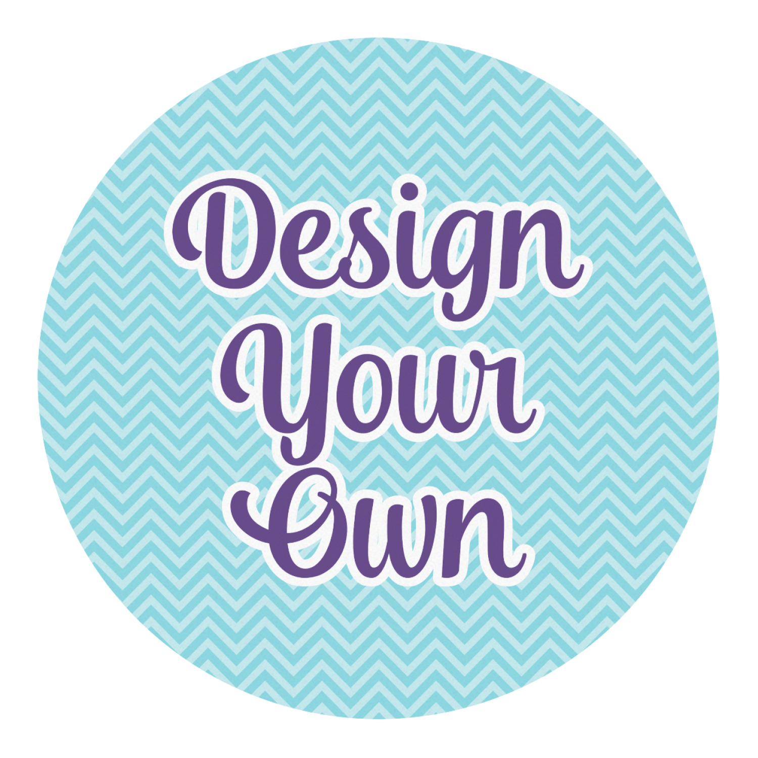 Design Your Own Round Decal Large Personalized