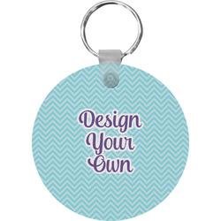Design Your Own Round Plastic Keychain