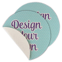 Design Your Own Round Linen Placemat