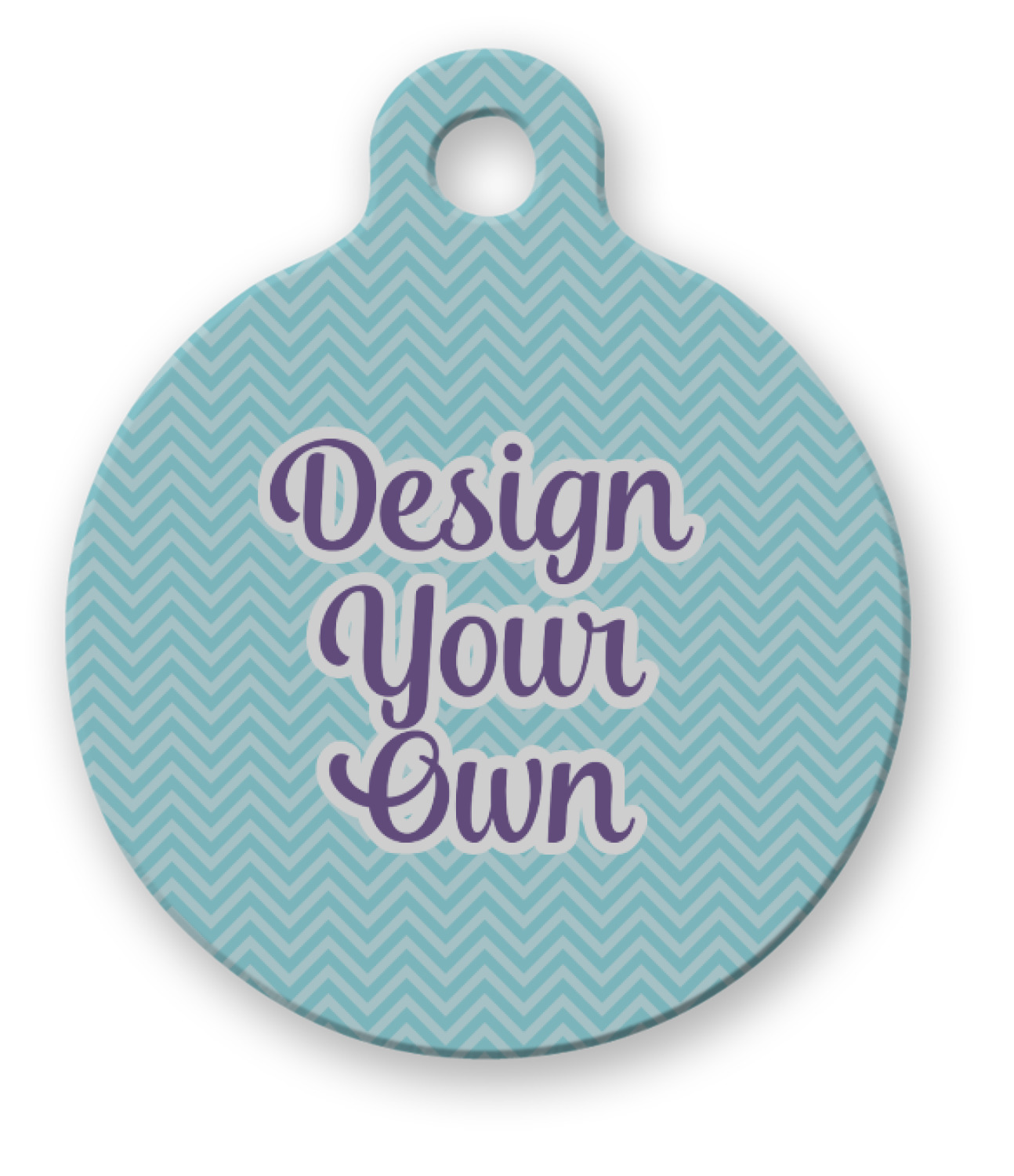 Design Your Own Round Pet Tag Personalized Youcustomizeit