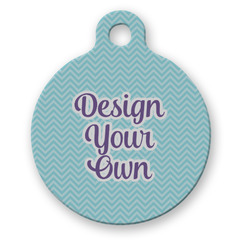 Design Your Own Round Pet Tag (Personalized)