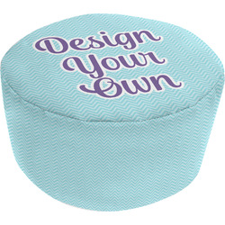 Design Your Own Round Pouf Ottoman (Personalized)