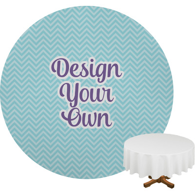 Design Your Own Personalized Round Tablecloth
