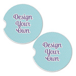 Design Your Own Sandstone Car Coasters - Set of 2 (Personalized)
