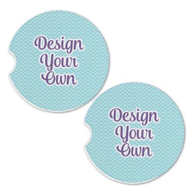 Design Your Own Personalized Sandstone Car Coasters - Set of 2