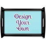 Design Your Own Black Wooden Tray (Personalized)