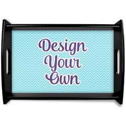 Design Your Own Black Wooden Tray - Small (Personalized)