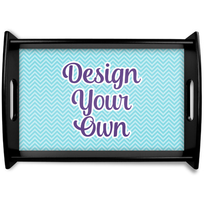 Design Your Own Personalized Black Wooden Tray