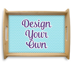 Design Your Own Natural Wooden Tray - Large (Personalized)