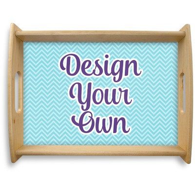 Design Your Own Personalized Natural Wooden Tray - Large