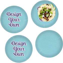 """Design Your Own Set of 4 Glass Lunch / Dinner Plate 10"""""""