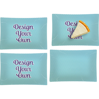 Design Your Own Personalized Set of 4 Glass Rectangular Appetizer / Dessert Plate