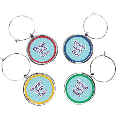Design Your Own Personalized Wine Charms (Set of 4)