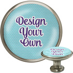 Design Your Own Cabinet Knob (Silver) (Personalized)
