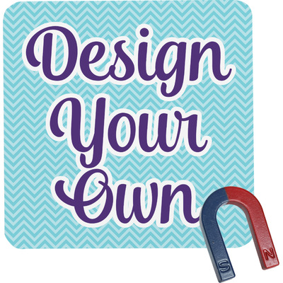 Design Your Own Personalized Square Fridge Magnet