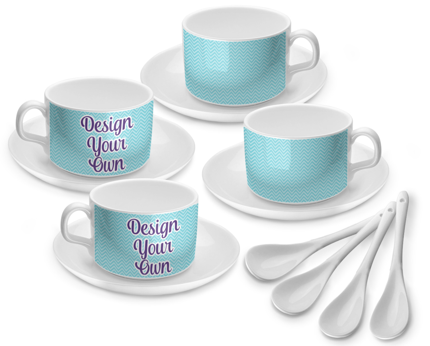 Design Your Own Tea Cup Set Of 4 Personalized Youcustomizeit