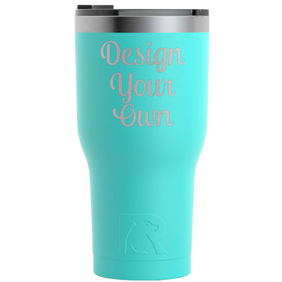 Design Your Own Personalized RTIC Tumbler - Teal - Engraved Front