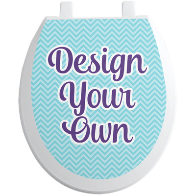 Design Your Own Personalized Toilet Seat Decal - Round