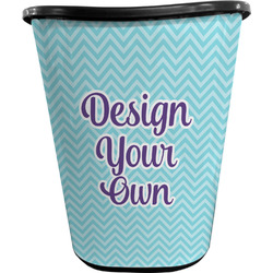 Design Your Own Waste Basket - Double Sided (Black) (Personalized)