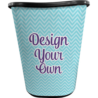Design Your Own Personalized Waste Basket - Double Sided (Black)