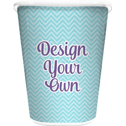 Design Your Own Waste Basket - Single Sided (White) (Personalized)