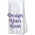 Design Your Own Waffle Weave Kitchen Towel - Partial Print