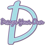 Design Your Own Name & Initial Decal - Custom Sized (Personalized)