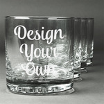 Design Your Own Whiskey Glasses (Set of 4) (Personalized)