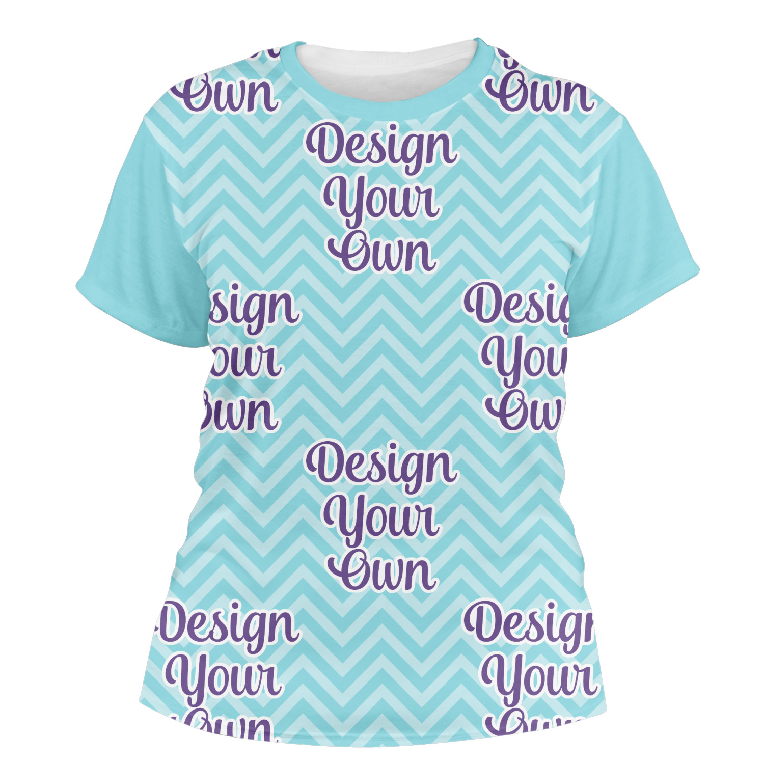 design your own personalized women u0026 39 s crew t-shirt