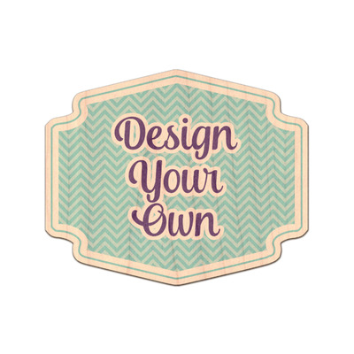 Design Your Own Personalized Genuine Maple or Cherry Wood Sticker