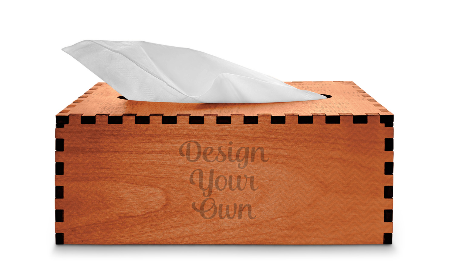 Design Your Own Cherry Wood Tissue Box Cover Rectangle