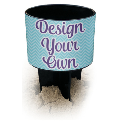 Design Your Own Personalized Black Beach Spiker Drink Holder