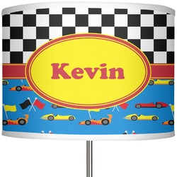 """Racing Car 13"""" Drum Lamp Shade Polyester (Personalized)"""