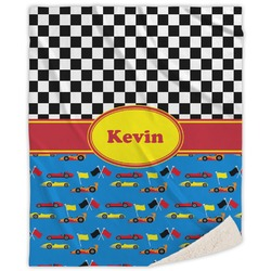 """Racing Car Sherpa Throw Blanket - 50""""x60"""" (Personalized)"""