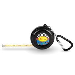 Racing Car Pocket Tape Measure - 6 Ft w/ Carabiner Clip (Personalized)