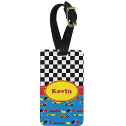 Racing Car Aluminum Luggage Tag (Personalized)