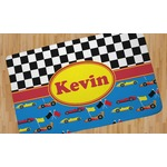 Racing Car Area Rug (Personalized)