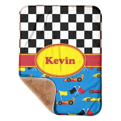 "Racing Car Sherpa Baby Blanket 30"" x 40"" (Personalized)"