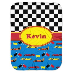 Racing Car Baby Swaddling Blanket (Personalized)