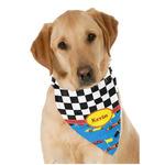 Racing Car Dog Bandana Scarf w/ Name or Text
