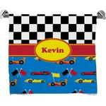 Racing Car Full Print Bath Towel (Personalized)