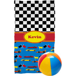 Racing Car Beach Towel (Personalized)