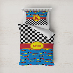Racing Car Duvet Cover Set - Twin (Personalized)
