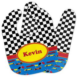 Racing Car Baby Bib w/ Name or Text