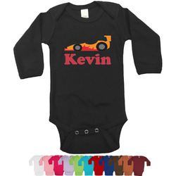 Racing Car Long Sleeves Bodysuit - 12 Colors (Personalized)