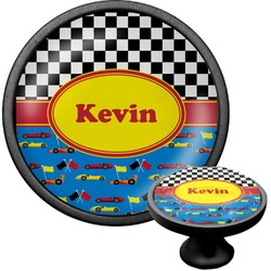 Racing Car Cabinet Knob (Black) (Personalized)